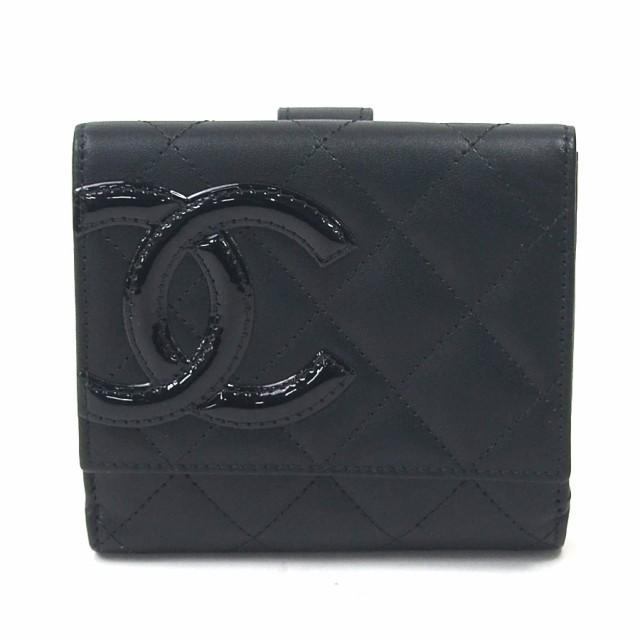 【新品同様】【中古】シャネル 二つ折り財布  カ...