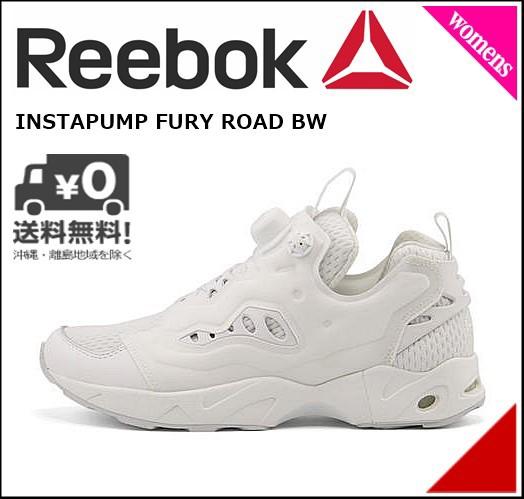 リーボック ローカット スニーカー レディース 軽量 INSTAPUMP FURY ROAD BW Reebok BS6202 ホワイト/スチール