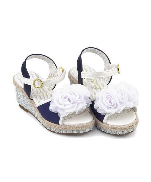 サンダル ウェッジソール 女の子 キッズ 子供靴 ...