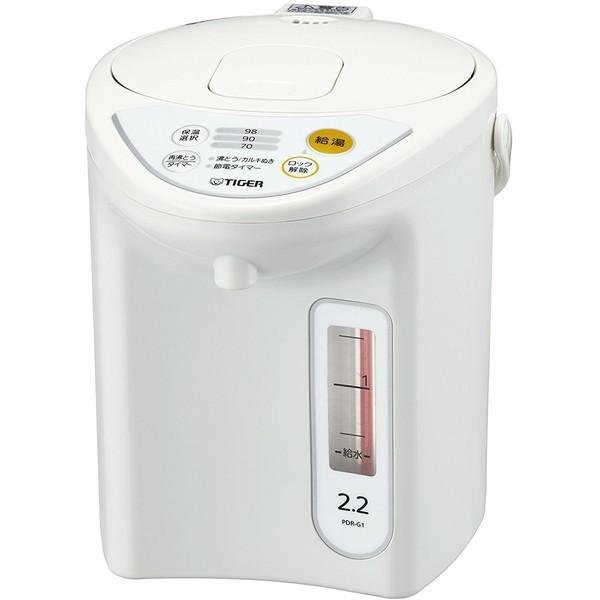 TIGER PDR-G221-W ホワイト [マイコン電動ポット ...