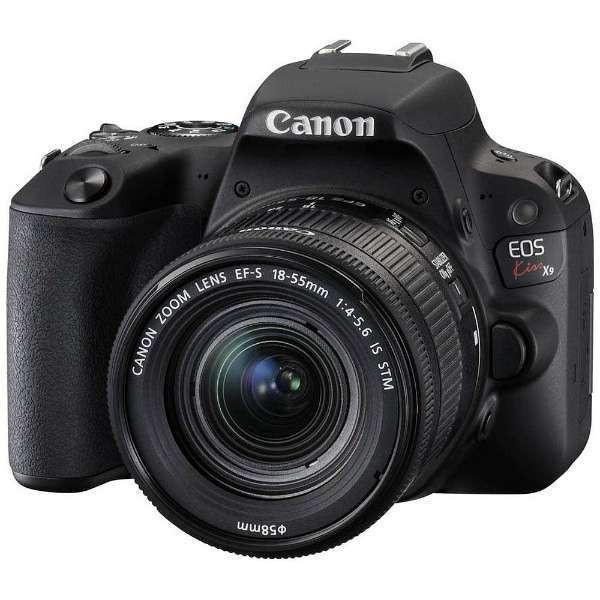CANON EOS Kiss X9 EF-S18-55 IS STM レンズキット ブラック [デジタル一眼カメラ (2420万画素)]【あす着】