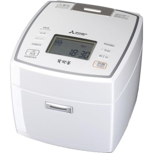 MITSUBISHI NJ-VV109-W ピュアホワイト 備長炭 炭...