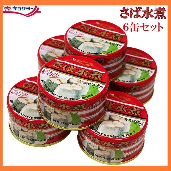 さば缶水煮 キョクヨー 180g×6缶セット 缶詰 代...
