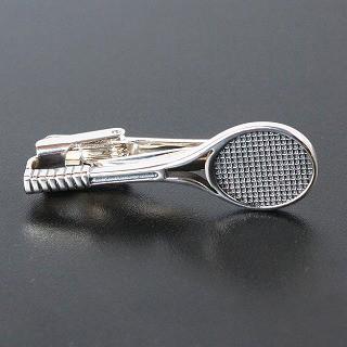 テニスラケットネクタイピン