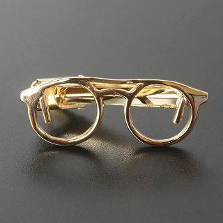 ゴールド眼鏡デザインネクタイピン