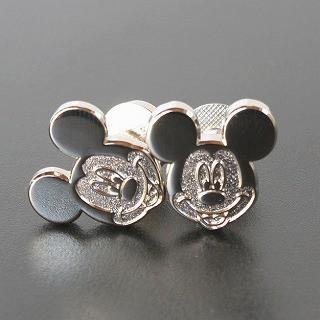Disney ディズニー シルバーミッキーマウスカフス...