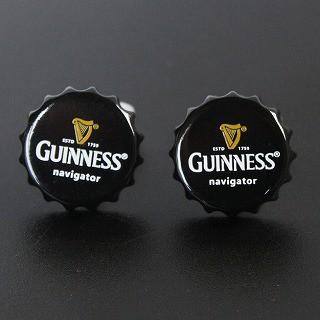ギネスビールの王冠カフスボタン