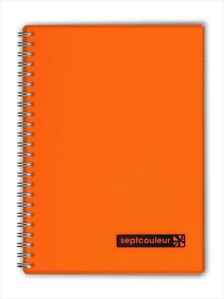 A5ノートセプトクルール オレンジ N572B-09 リン...