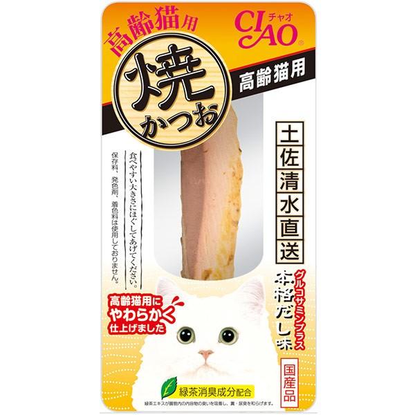 チャオ 焼かつお 高齢猫用 本格だし味 1本 【キャ...