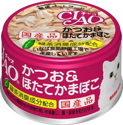 チャオ ホワイティ かつお&ほたてかまぼこ 缶詰 ...