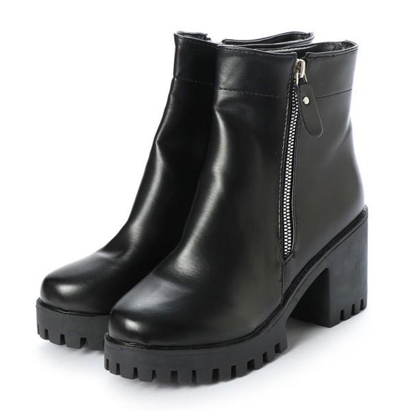 ブーツ サイドジップブーツ ショートブーツ 裏ボ...