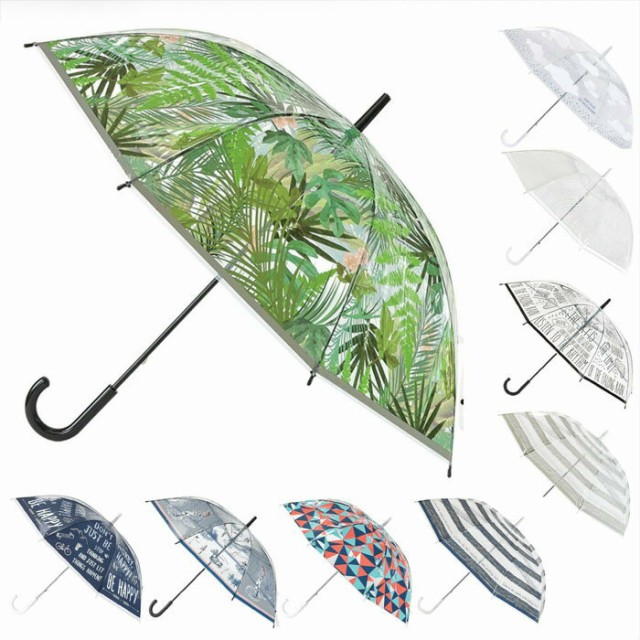 ビニール傘 かわいい 傘 レディース 透明ビニール傘 58.5cm HHLG50 おしゃれ 雨傘 手開き 通勤 通学 カサ かさ