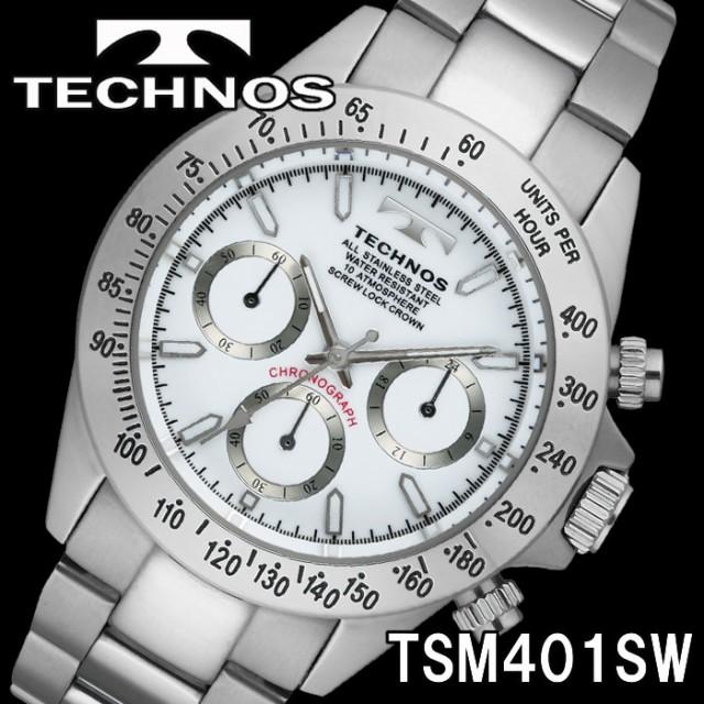 TECHNOS SWISS 腕時計 メンズ クロノグラフ 10気...