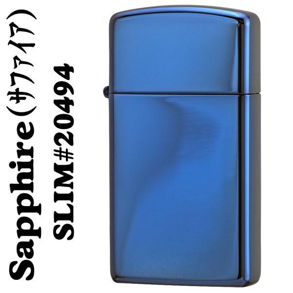 ジッポ ライター zippo スリム サファイア 青色 #...