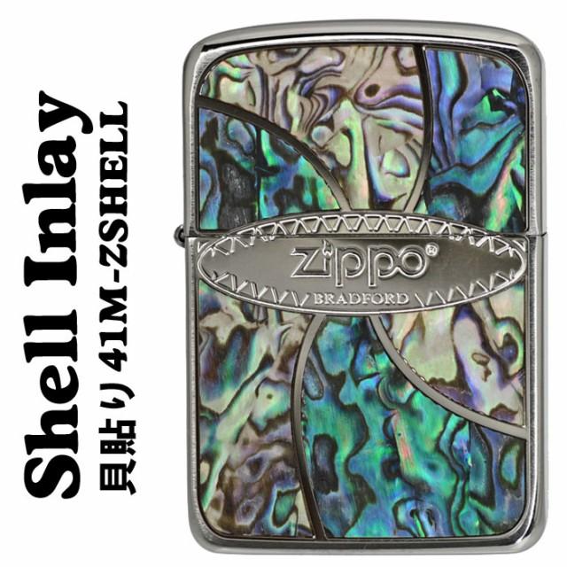 zippo(ジッポーライター)シェル 貝 メタル貼り Sh...