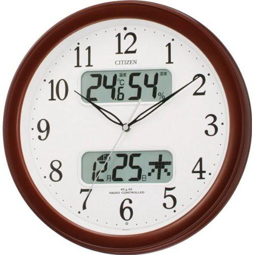 リズム時計工業 CITIZEN シチズン 電波壁掛け時計...