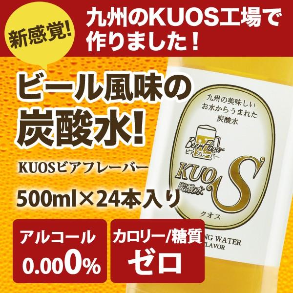 【送料無料】炭酸水 ビアフレーバー 500ml×24本 ...