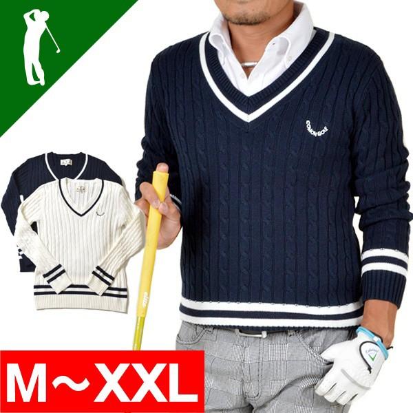 即納 チルデンVネックコットンゴルフセーター 2色...