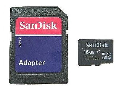 ■SanDisk SDアダプタ付 microSDHC 16GB マイクロ...