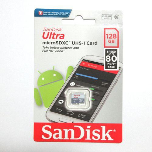 SanDisk microSDXCカード 128GB クラス10 SDSQUNS...
