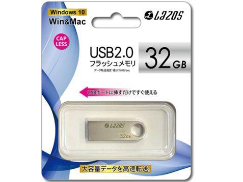 LAZOS USBフラッシュメモリー 32GB 軽量/小型 L-U...