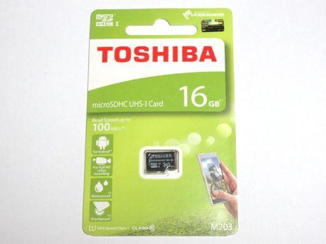 東芝製 microSDHC 16GB クラス10 100MB/s THN-M20...