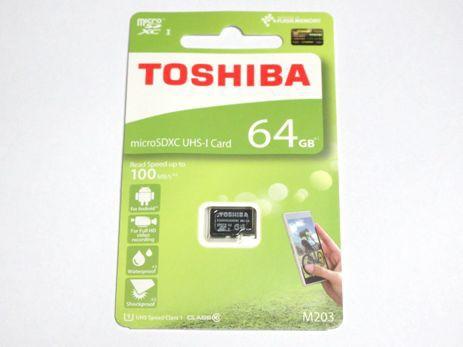 東芝製 microSDXC 64GB クラス10 100MB/s THN-M20...