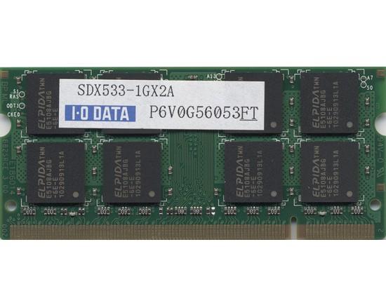 【中古】I-O DATA製★SDX533-1GA★S.O.DIMM DDR2 ...