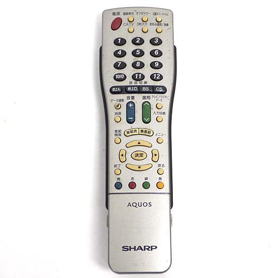 【中古】SHARP製★テレビリモコン GA417WJSA▼【...