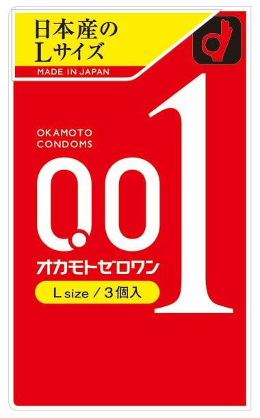 オカモト ゼロワン Lサイズ(3コ入)   0.01mm コ...