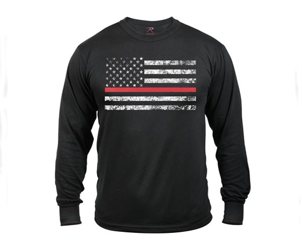 ロスコ Thin Red Line Long Sleeve T-shirt Tシャ...
