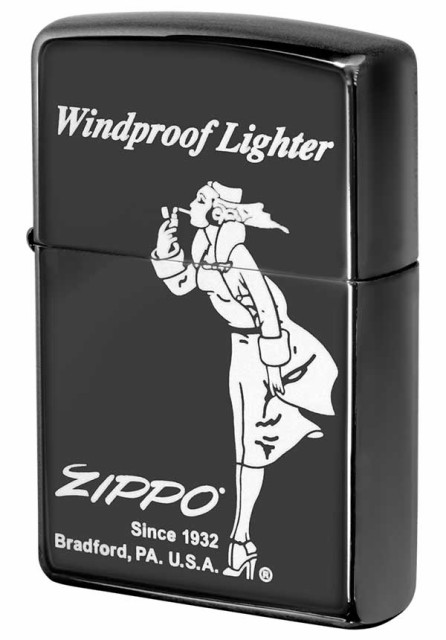 Zippo ジッポー Processing in USA Black Ice ブ...