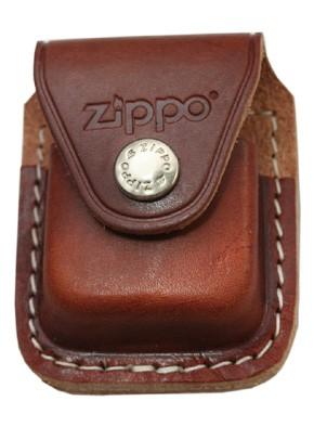 Zippoレザー 革 ケース クリップタイプ・ブラウン...