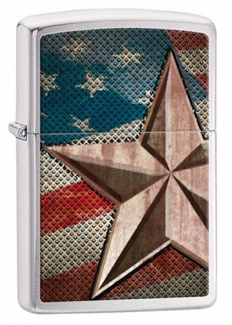 Zippo ジッポー Retro Star and Flag 28653