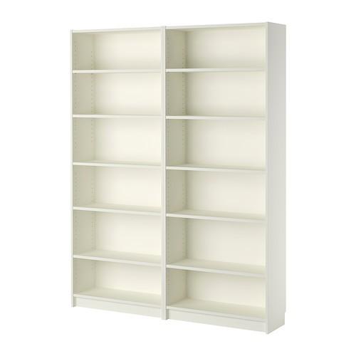 【IKEAイケア】BILLY ビリー書棚本棚木製組み立て家具 白 ホワイト 160x202x28cm