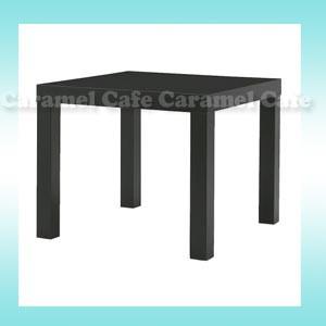 【IKEAイケア】LACKサイドテーブル ブラック 組...