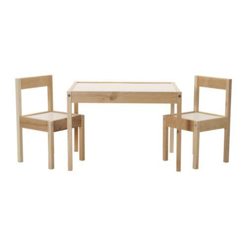 【IKEAイケア】LATT木製子供用テーブル&チェア2...