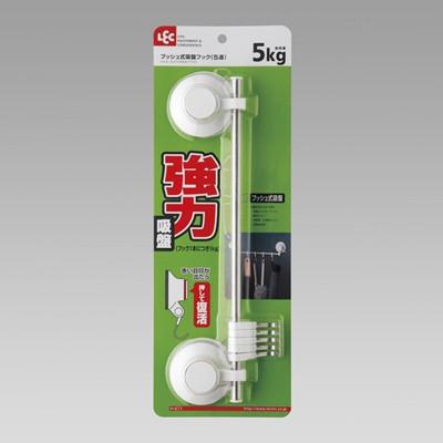 プッシュ式吸盤フック(5連) LEC レック H-671 ...