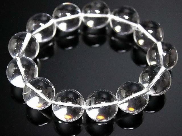 【標準18mm】最高級水晶数珠ブレスレット■アクセ...
