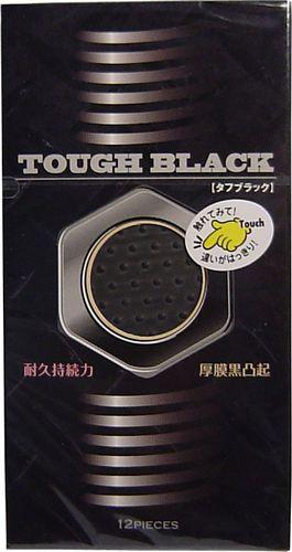 タフブラック 厚膜黒凸起コンドーム 12個入【管...
