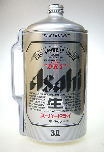 アサヒ スーパードライ ミニ樽 アルミ 3000m...