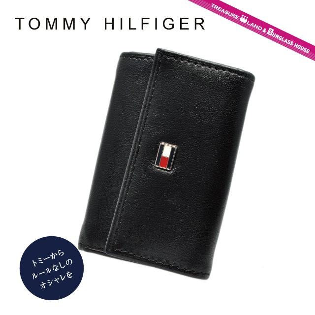 トミーヒルフィガー TOMMY HILFIGER キーケース 3...