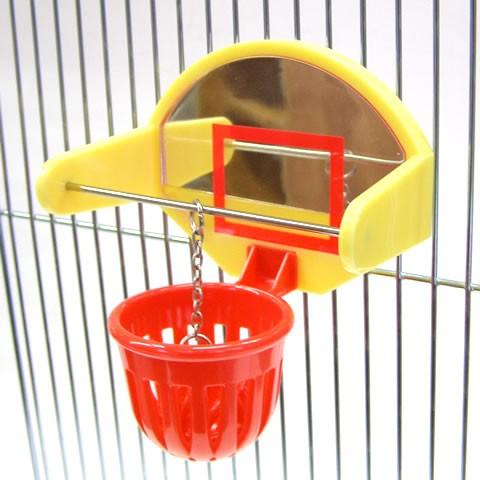 バードバスケット/小鳥 インコ おもちゃ 鏡 ピッ...