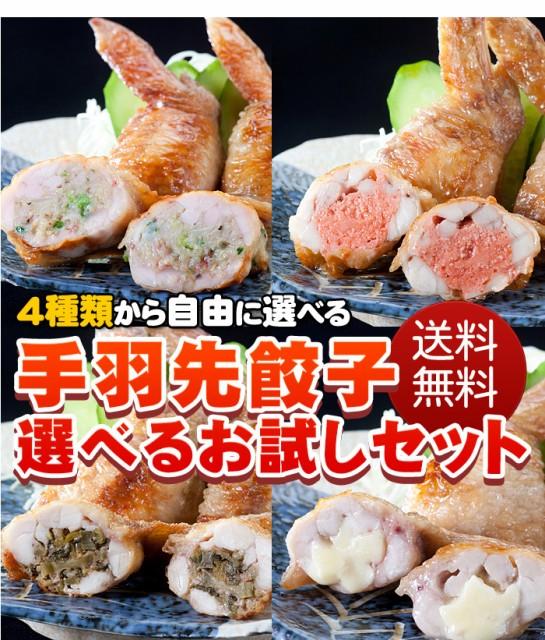 【送料無料】手羽先餃子選べるセット(5本×5P)25...