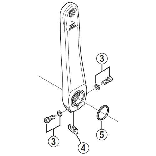 [3]左クランク締付ボルト(M6×19)&ワッシャー 【...