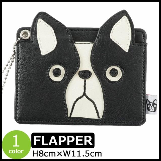 パスケース FLAPPER かわいい 犬 イヌ 犬顔 ポー...