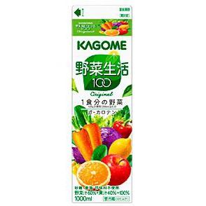 カゴメ 野菜生活100 オリジナルホームパック 1L