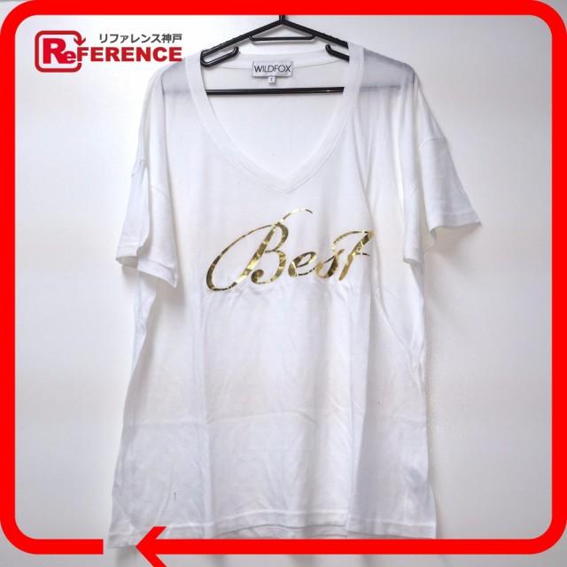あす着 WILDFOX ワイルドフォックス ワイドTシャツ 半袖Tシャツ  ホワイト レディース