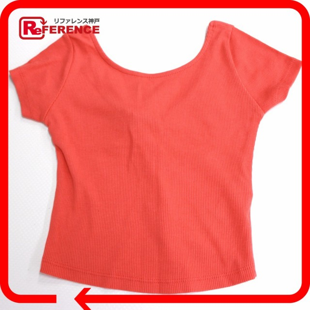 新品同様 あす着 ZARA ザラ クロップトップ トップス 半袖Tシャツ オレンジ レディース