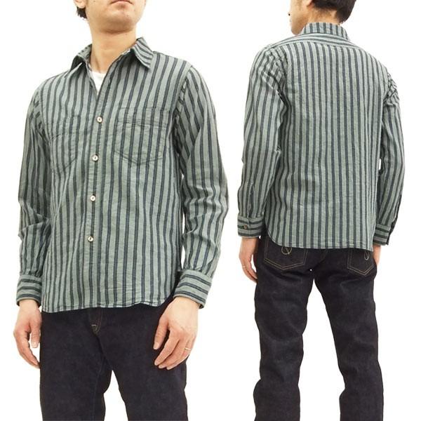 シュガーケーン SC27845 ストライプ ワークシャツ...